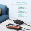 Picture of RAVPOWER 6 Port 60W 1xQC3.0 5xUSB Desktop with iSmart Charger - Black