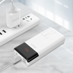 Picture of Romoss LT20PS+ 20000mAh Input: Type-C|Lightning|Micro USD|Output: Type-C|2 x USB Power Bank - White