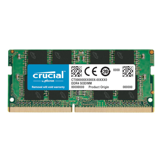 Picture of Crucial 4GB DDR4 2666MHz SO-DIMM Single Rank