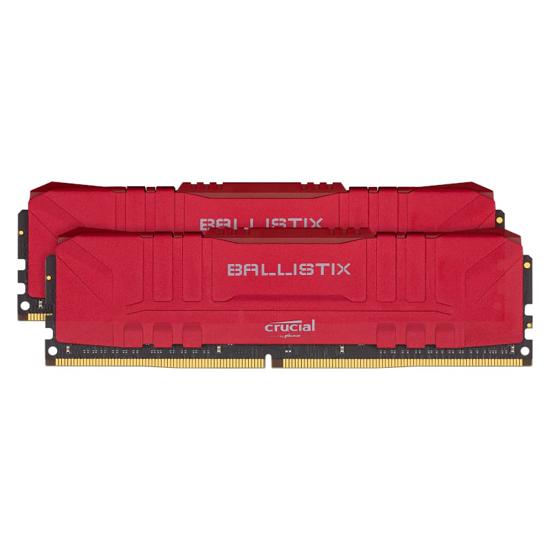 Picture of Ballistix 64GBKit (2x32GB) DDR4 3200MHz Desktop Gaming Memory - Red