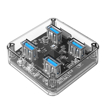 Picture of Orico 4 Port USB3.0 Transparent Hub