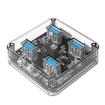 Picture of Orico 4 Port USB3.0 Transparent Hub