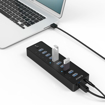 Picture of Orico 10 Port 30W Additional Power USB3.0 Hub - Black