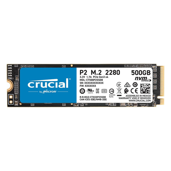 Picture of Crucial P2 500GB 3D PCIE NVME M.2 SSD
