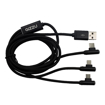 Picture of GIZZU 3in1 USB to Micro USB/Type-C/Lightning Right Angle 1.2M Cable - Black