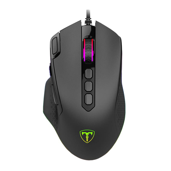 Picture of T-Dagger Battle 8000DPI 10 Button|180cm Cable|RGB Backlit Gaming Mouse - Black