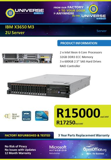 Picture of IBM X3650 M3 SU Server