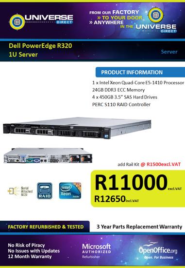 Picture of Dell PowerEdge R320 1U Server