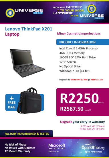 Picture of BEST DEAL-Lenovo ThinkPad X201 i5 Laptop