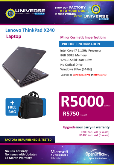 Picture of BEST DEAL-Lenovo ThinkPad X240 i7 Laptop