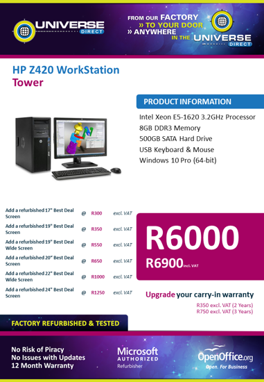 Picture of BEST DEAL-HP Z420 Workstation Tower