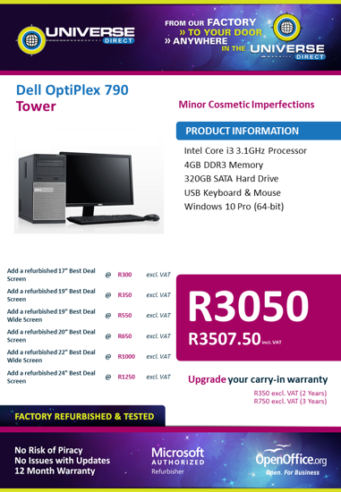 Picture of BEST DEAL-Dell OptiPlex 790 i3 Tower