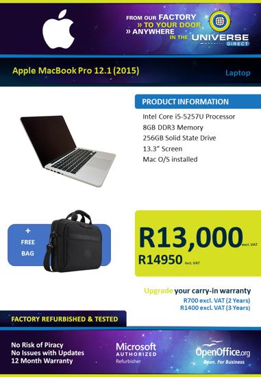 Picture of Apple MacBook Pro 12.1 (2015) i5 Laptop