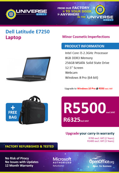 Picture of BEST DEAL-Dell Latitude E7250 i5 256GB Laptop