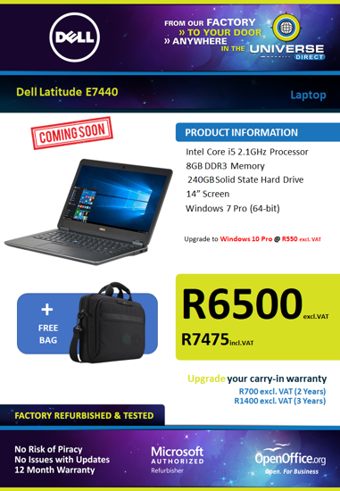 Picture of COMING SOON-Dell Latitude E7440 i5 Laptop