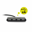 Picture of Port USB Type-C to 4 x USB2.0 480Mbs 4 Port Hub - Black