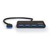 Picture of Port USB3.0 to 4 x USB3.0 5Gbps 4 Port Hub - Black