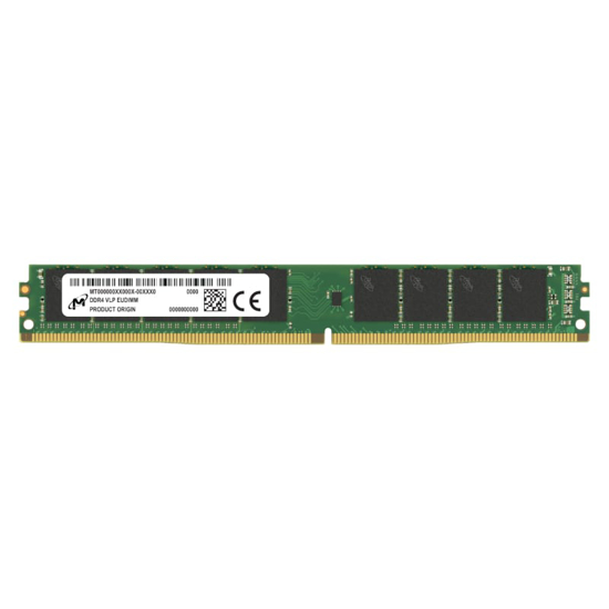 Picture of Micron 32GB DDR4 2666MHz VLP ECC Unbuffered Dimm