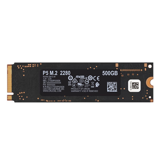 Picture of Crucial P5 500GB 3D PCIE NVME M.2 SSD