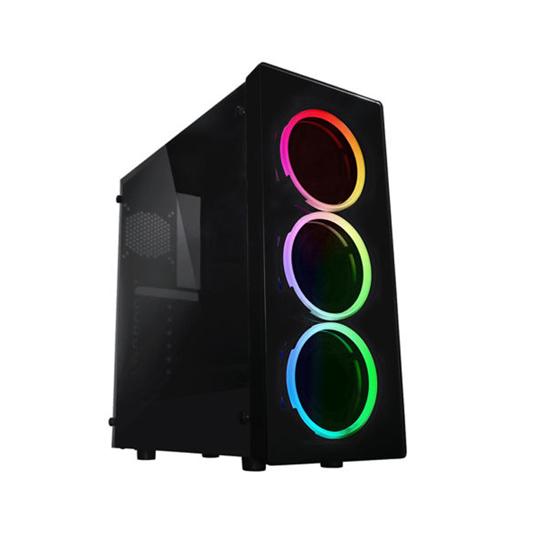 Picture of Raidmax Neon Window ARGB LED (GPU 355mm) ATX Micro ATX Chassis Black