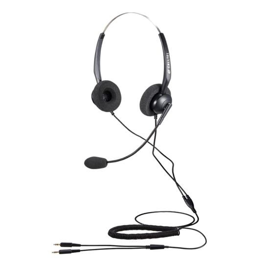 Picture of Calltel T800 Stereo-Ear Noise-Cancelling Headset - Dual 3.5mm Jacks