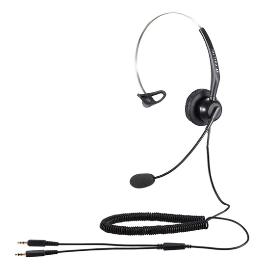 Picture of Calltel T800 Mono-Ear Noise-Cancelling Headset - Dual 3.5mm Jacks