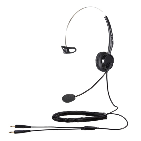 Picture of Calltel T400 Mono-Ear Noise-Cancelling Headset - Dual 3.5mm Jacks