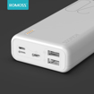 Picture of Romoss Simple 20 20000mAh Input: Type C|Lightning|Micro USB|Output: 2 x USB Power Bank - White