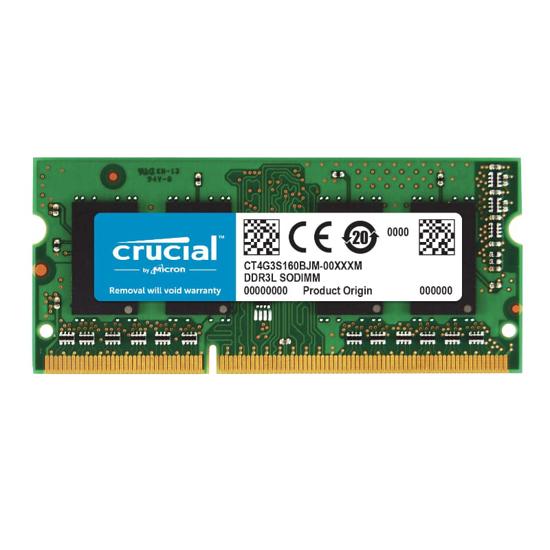 Picture of Crucial Mac 4GB DD3L 1600MHz (PC3-12800) CL11 204Pin 1.35V/1.5V Single Rank