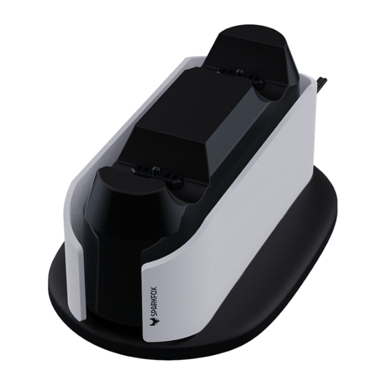 Picture of SPARKFOX PlayStation 5 Design Dual Charging Dock - White and Black
