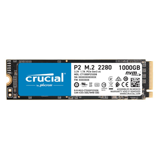 Picture of Crucial P2 1TB 3D PCIE NVME M.2 SSD